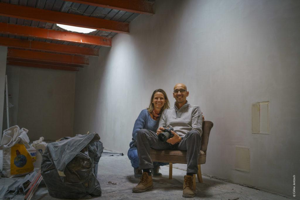 Céline Jentzsch et Samuel Bitton - fondateurs de la galerie