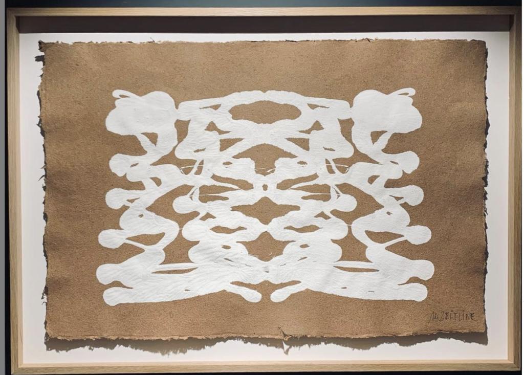 Entrelace - gouache sur papier fait main  - 100 x 72 cmMESGMZM08