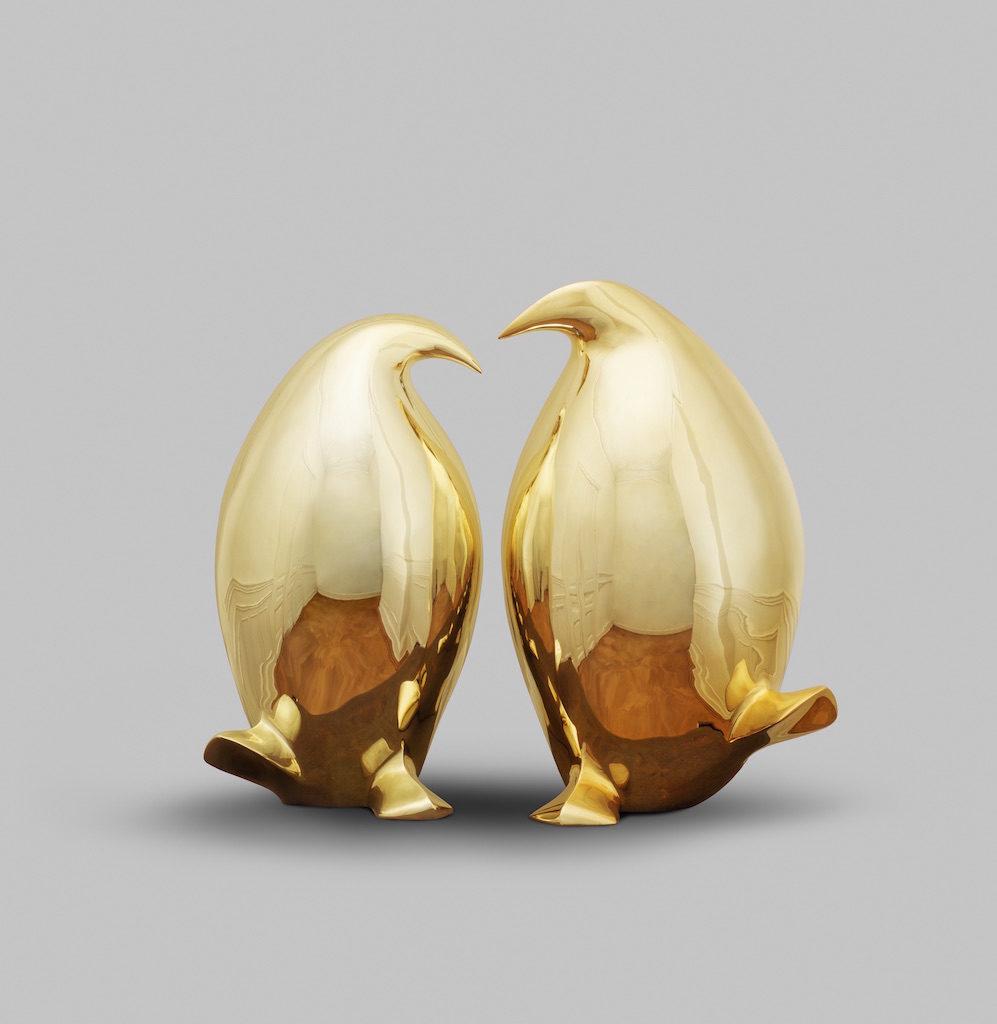 Le couple doré - Bronze - 3/8 - 2016 2 x H.30cm / L.20cm / P.24cm