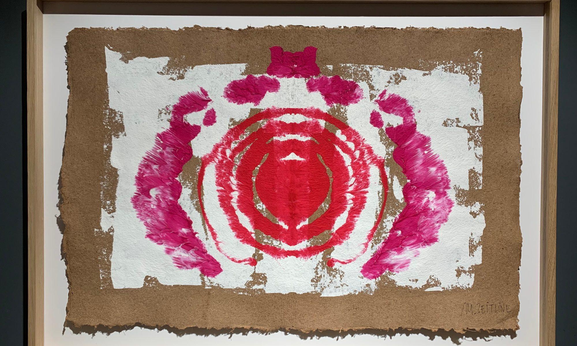 La vie en rose - gouache sur papier fait main  - 100 x 72 cmMESGMZM11