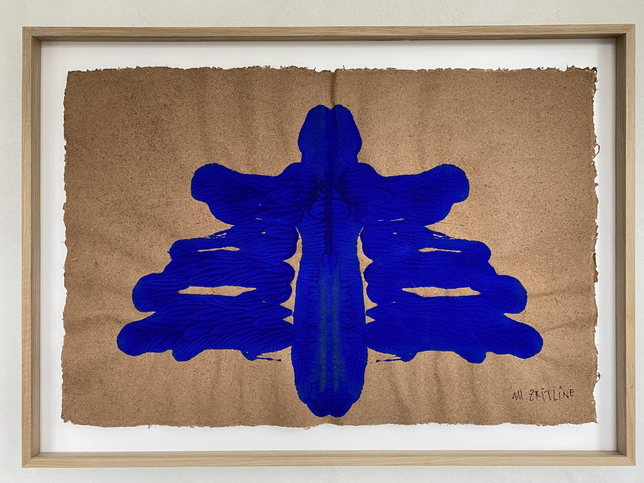 Voyageur du futur II - gouache sur papier - 72 x 100 cm MESGMZM03