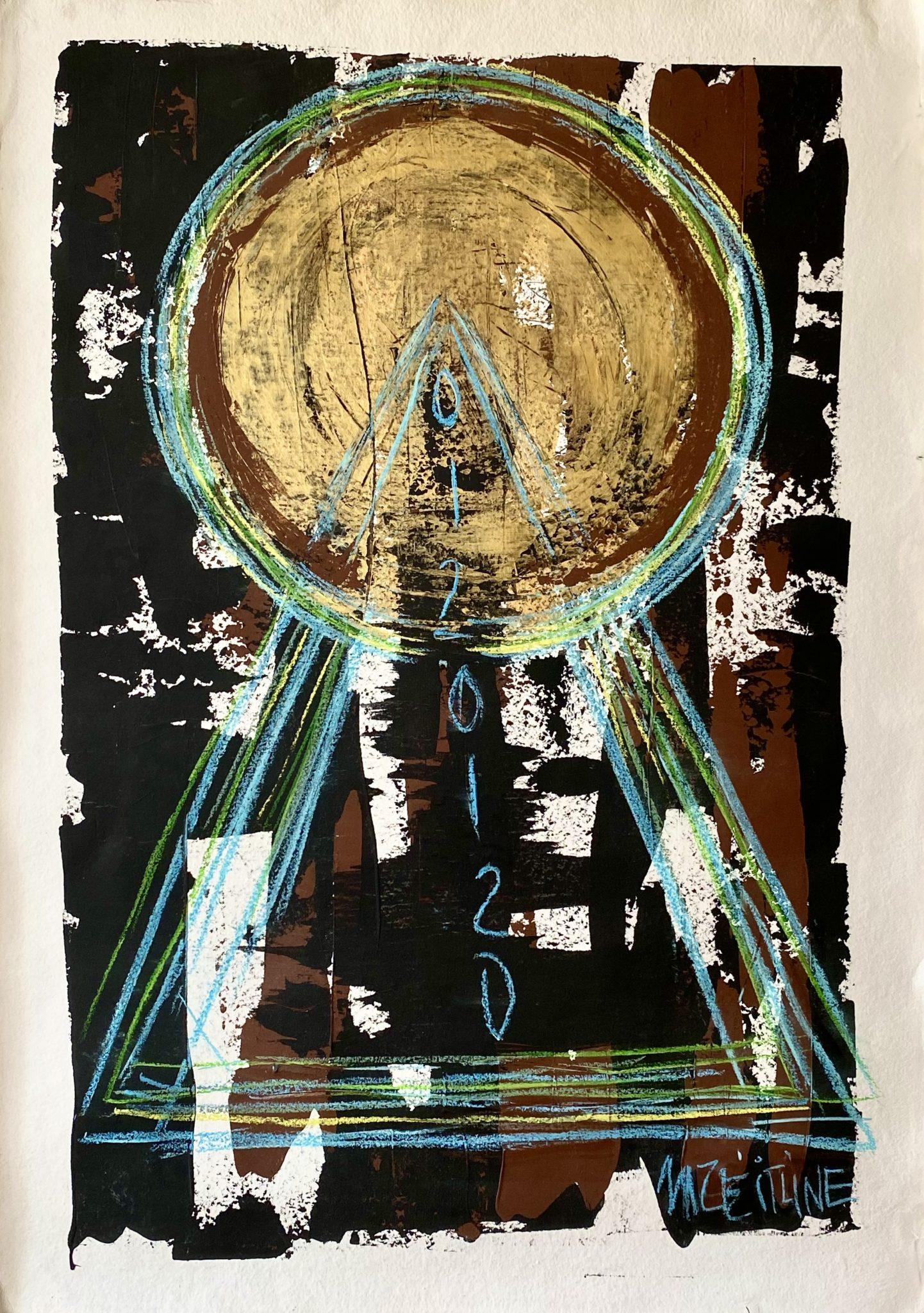 Donner forme à mes rêves- Gouache, acrylique, pastels sur papier - 110 x 140 cm MESGMZM01