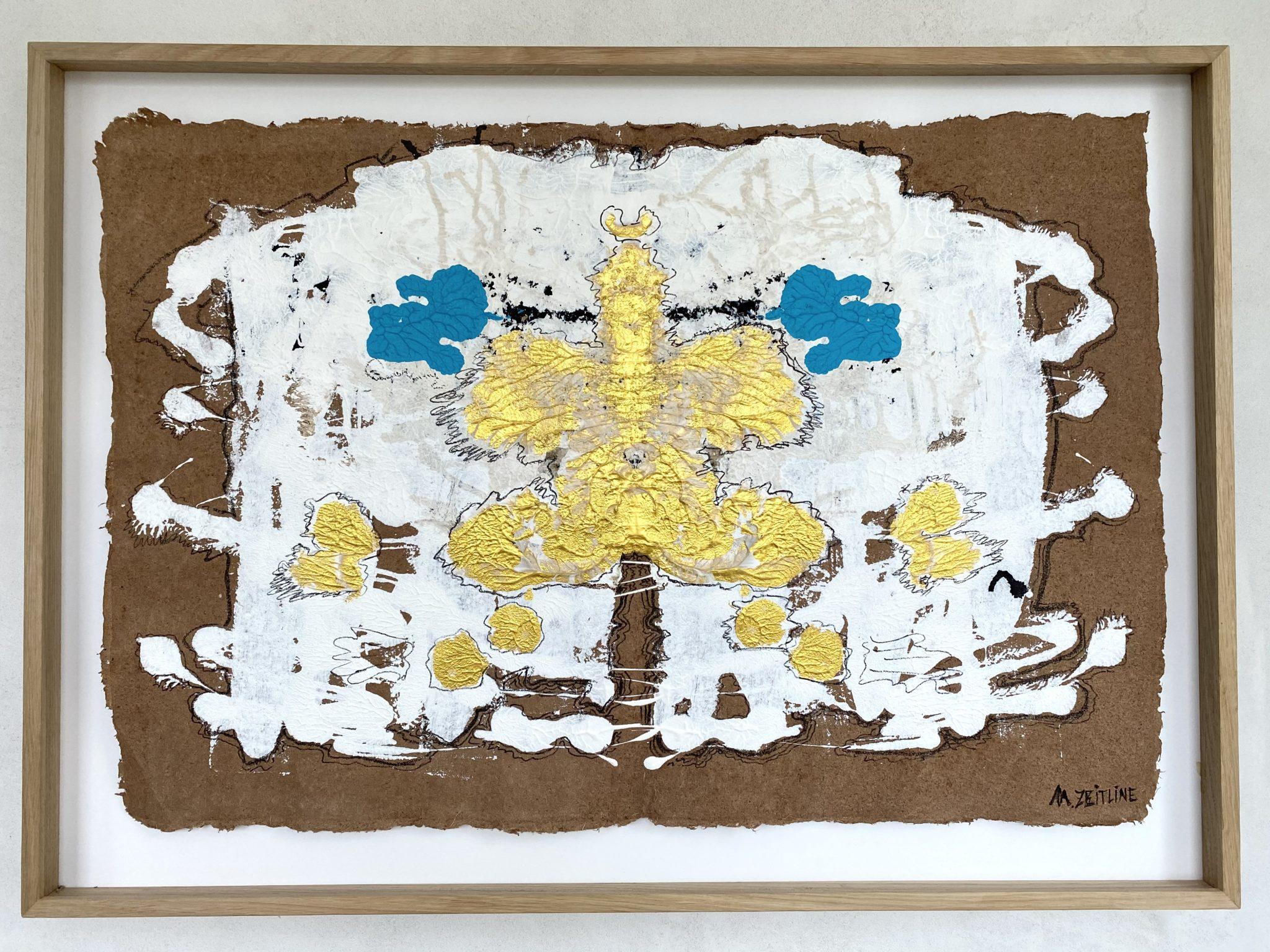 Mondes Invisibles - acrylique et feutre sur papier - 72 x 100 cmMESGMZM05