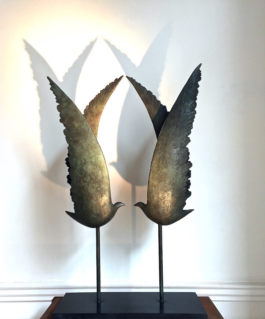 Les Ailes - Bronze - 3/8 - 2015 H.100cm / L.67cm / P.25cm
