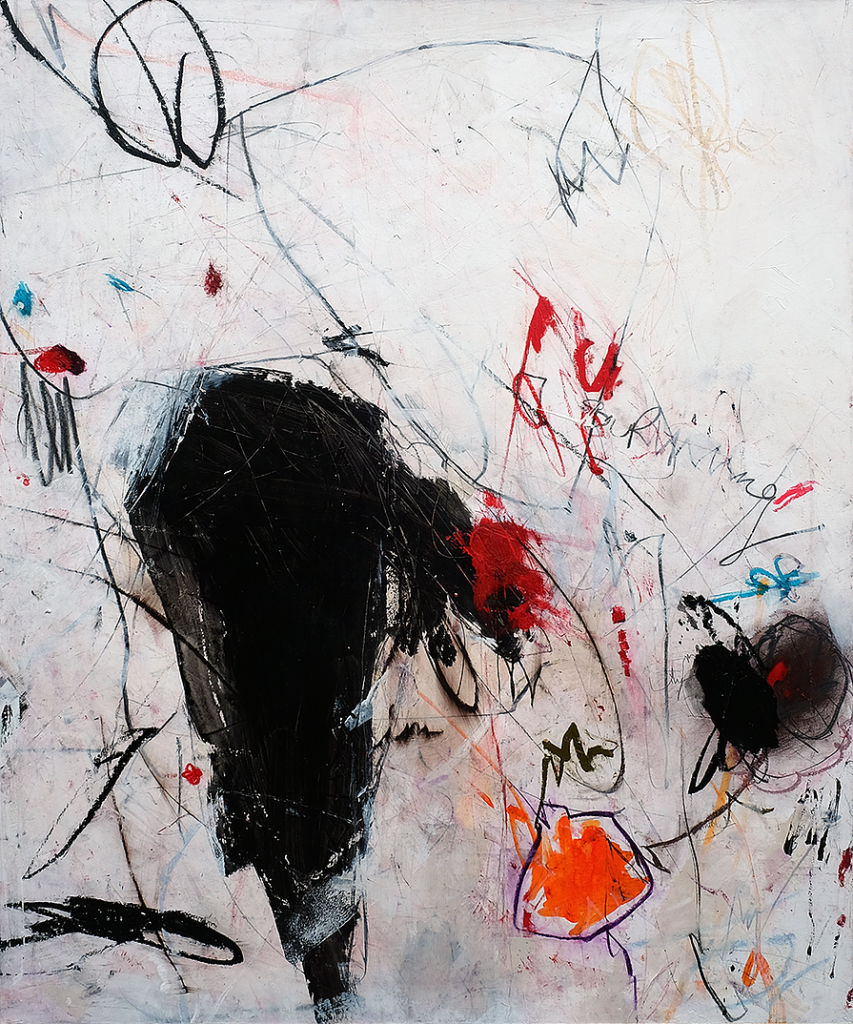 what on earth happened - 120 x 100 cm